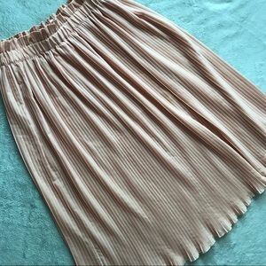 Anthro Hunter Dixon Million Pleats Midi Skirt Pink